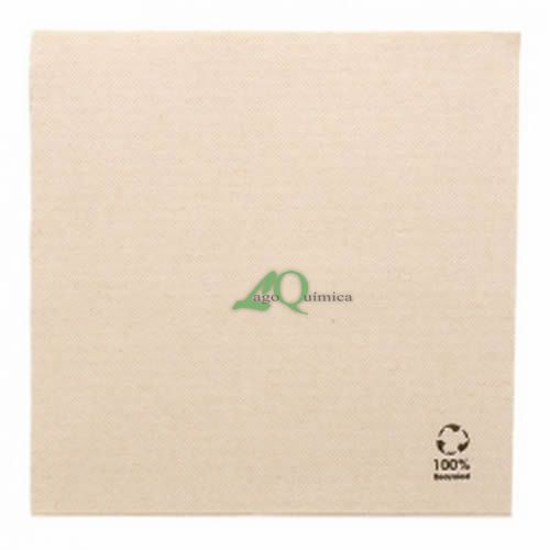 GUARDANAPOS ECOLABEL 'DOUBLE POINT' 18 G/M2 39x39 CM NATURAL TISSUE